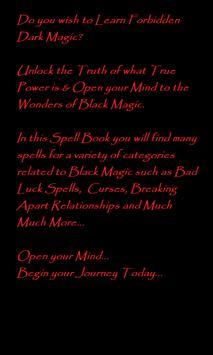 Black & Dark Magic Spells Book poster