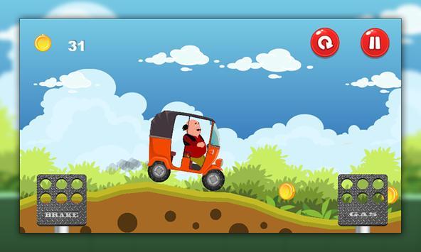 Motu Rickshaw Patlu hill racer apk screenshot