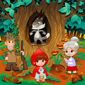 Little Red run Riding Hood icon