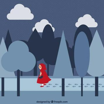 Little Red run Riding Hood poster