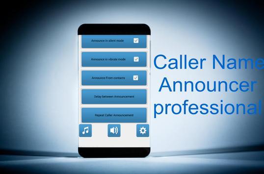 "Caller Name Announcer ""profe"" apk screenshot"