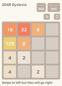 2048 Dyslexia screenshot 1