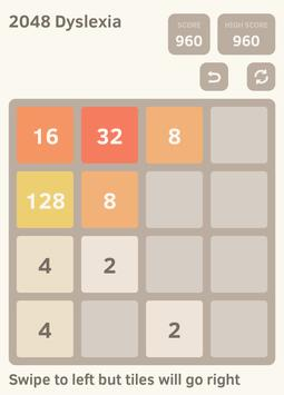 2048 Dyslexia screenshot 5