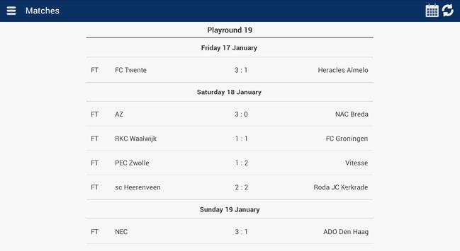 Eredivisie Info screenshot 9