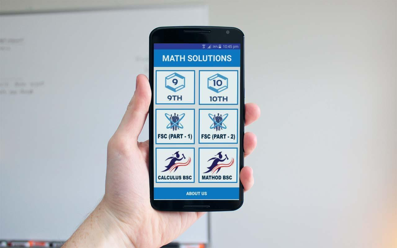 Math Solutions (Matric, FSc, BSc) for Android - APK Download