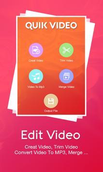 Quik Video Maker apk screenshot