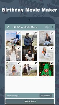 Birthday Video Maker with Name poster