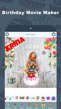 Birthday Video Maker with Name screenshot 1