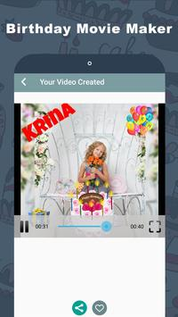 Birthday Video Maker with Name screenshot 2