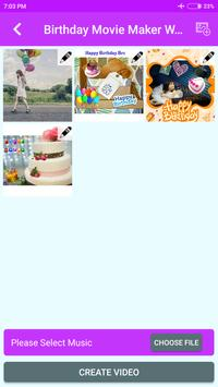Birthday Movie Maker With Music screenshot 2