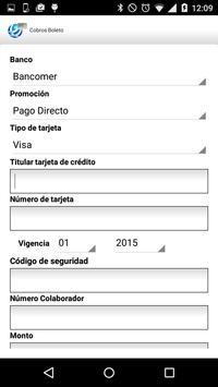 Cobros Móvil ST screenshot 2