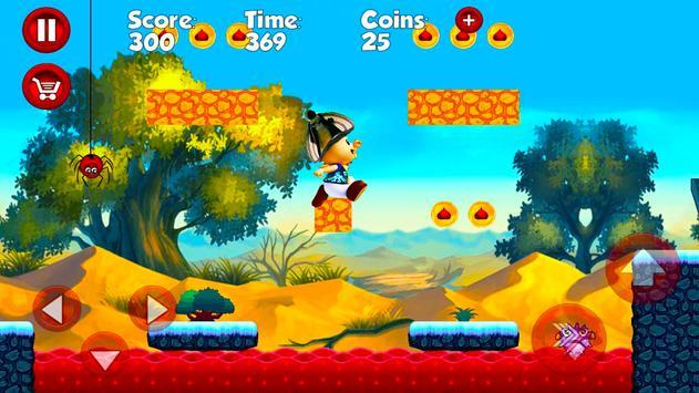 Super Movimiento Naranja Adventure run screenshot 1
