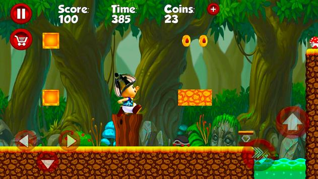 Super Movimiento Naranja Adventure run screenshot 2