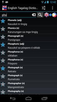 Offline English Tagalog Dictionary poster