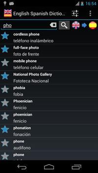Offline English Spanish dictionary poster