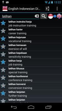 Offline English Bahasa Dictionary apk screenshot