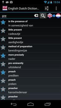 Offline English Dutch Dictionary poster