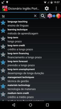 Offline English Portuguese Dictionary poster
