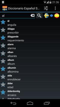 Offline Spanish Swedish Dictionary apk screenshot