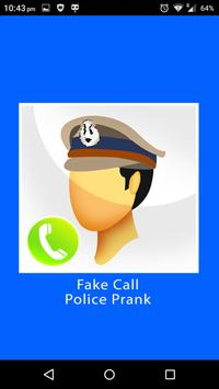 Fake Call Police Prank apk screenshot