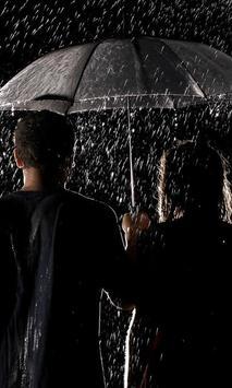 moving wallpaper rain poster