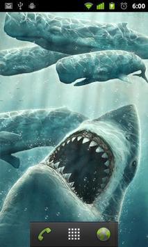 moving shark wallpaper apk screenshot