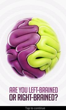 Are you left-brained or right- poster