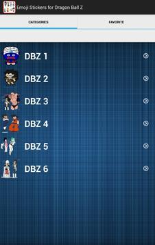 Emoji Stickers for Dragon Ball Z screenshot 1
