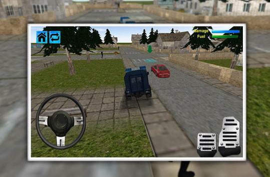 Police Jeep Favela Parking screenshot 2