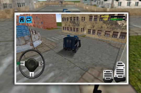 Police Jeep Favela Parking screenshot 3