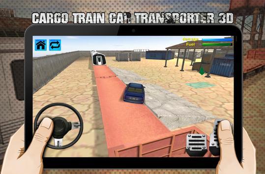 cargo train car transporter 3D screenshot 5