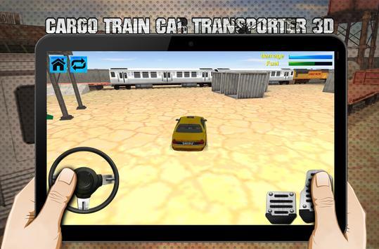 cargo train car transporter 3D screenshot 3