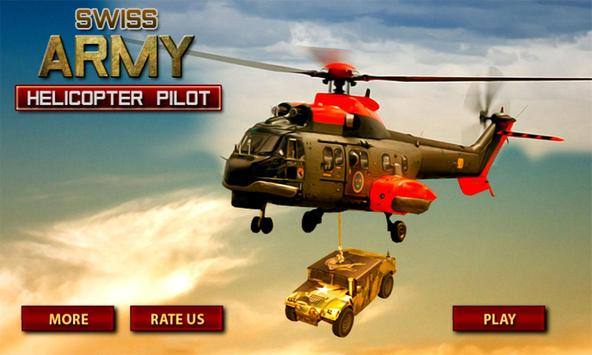 Swiss Army Helicopter Pilot poster