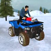 ikon snowmobile parkir petualangan