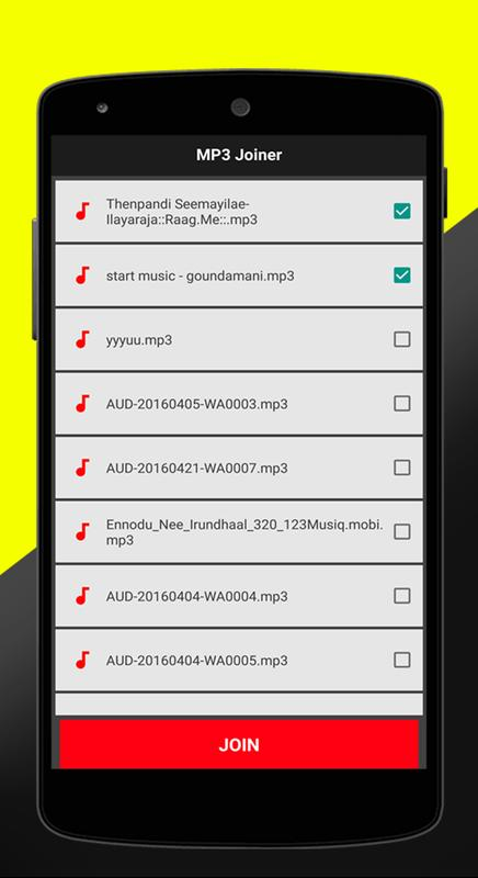 Mp3 cutter and joiner, merger for android free download and.