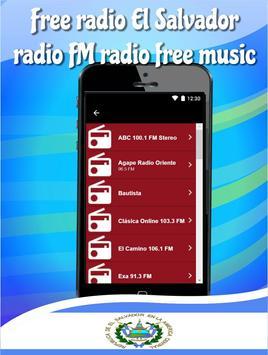 Free radio El Salvador radio FM radio free music poster
