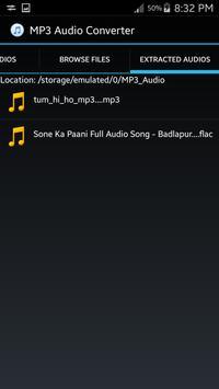 MPG-Video to MP3 Converter screenshot 3