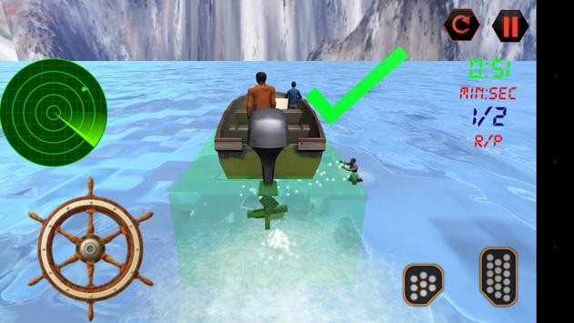 Police Boat Rescue 3D screenshot 1