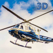 Police Helicopter 3D icon