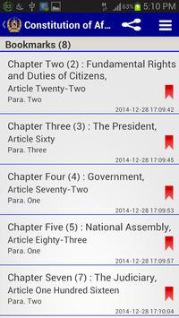 Constitution of Afghanistan apk screenshot