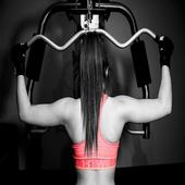 Máquinas de entrenamiento en el gym icon