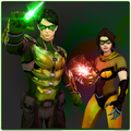 Green Ring Power Hero : Mortal Warrior