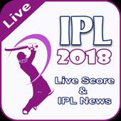 IPL Shedule 2018 & Live Cricket Score 2018 icon