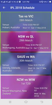 IPL Shedule 2018 & Live Cricket Score 2018 screenshot 5