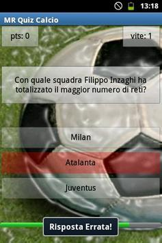 MR Quiz Calcio apk screenshot