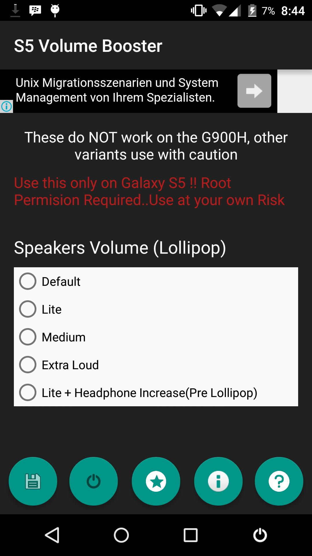 Increase Volume Android Root