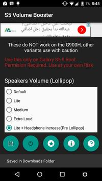 Volume Booster for Galaxy S5 screenshot 1