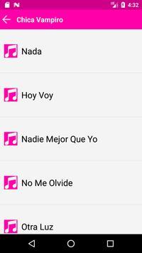 Chica Vampiro Songs Full apk screenshot