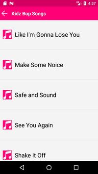 Kidz Bop Songs Kids apk screenshot