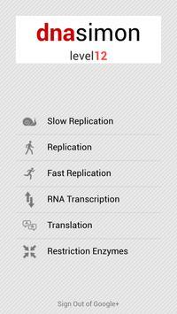 DNA Simon apk screenshot